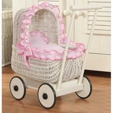 Плетеная коляска для кукол Artwares Attiс Wooden