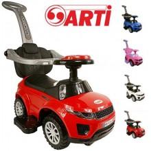 Машинка-толокар с родительской ручкой Arti Sport car Deluxe 3в1