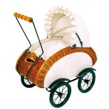 Плетеная ретро коляска для кукол Artwares LEONOR