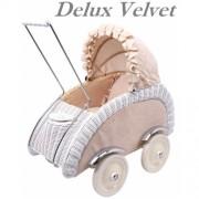 Плетеная ретро коляска для кукол Artwares Deluxe Velvet