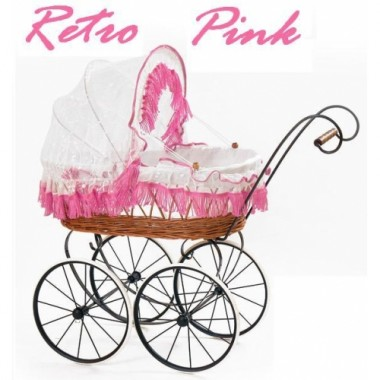 Коляска для куклы Artwares Retro Pink