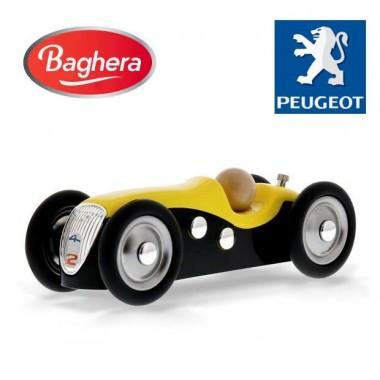 Машинка Baghera Mini Metal CAR Peugeot 402 yellow