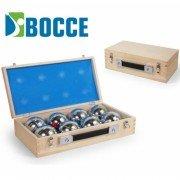 Набор для игры в Бочче Петанк 8 шаров в деревянном чемоданчике