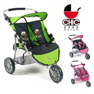 Спортивная коляска для двух кукол Bayer Chic 2000 Twin Jogger Dolls Buggy