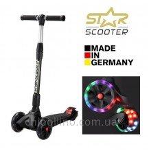 Самокат трехколесный BikeStar-Scooter Kickcruiser LED Black