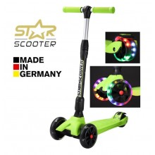 Самокат трехколесный BikeStar-Scooter Kickcruiser LED Green