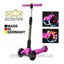 Самокат трехколесный BikeStar-Scooter Kickcruiser LED Pink