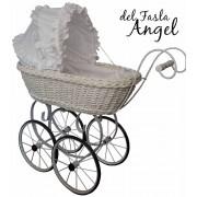 Коляска для кукол плетеная из лозы del Fasla Angel