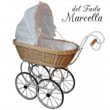 Коляска для кукол плетеная del Fasla Marcella
