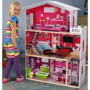 Кукольный деревянный домик ECOTOYS Malibu Residence