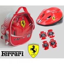 Защитный набор для катания на роликах Ferrari