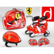 Ролики раздвижные Ferrari F1 и защитный набор