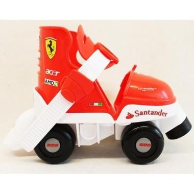 Ролики детские раздвижные Ferrari F1 (четырехколесные)