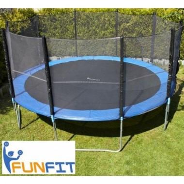 Батут FUNFIT 465 см с защитной сеткой и лесницей