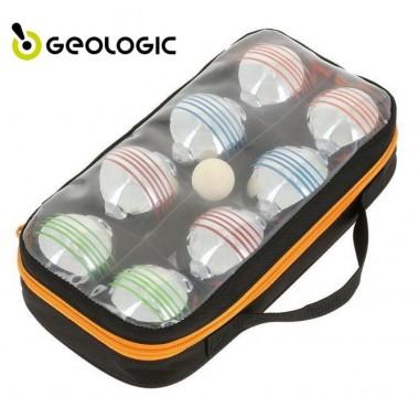 Набор для игры в петанк 8 шаров цветных Geologic