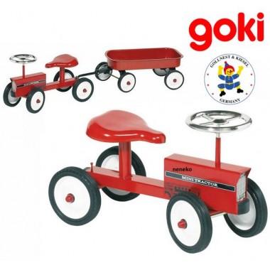 Детский трактор с прицепом Goki Ride-on-tractor with trailer