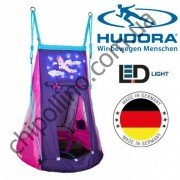 Качели-гнездо с палаткой Pony 90 см Hudora 72149 LED