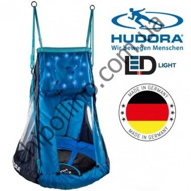 Качели-гнездо с палаткой Space 90 см Hudora 72151 LED
