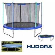 Батут Hudora 300 см с защитной сеткой и чехлом