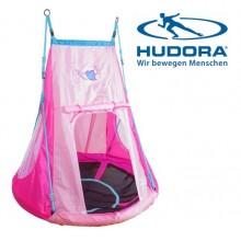 Качели-гнездо Hudora 110 с палаткой Сердце 72153