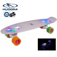 Скейтборд с подсветкой Hudora Fishka Retro LED