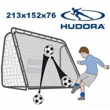 Футбольные ворота Hudora REBOUND 213x153 см 2в1