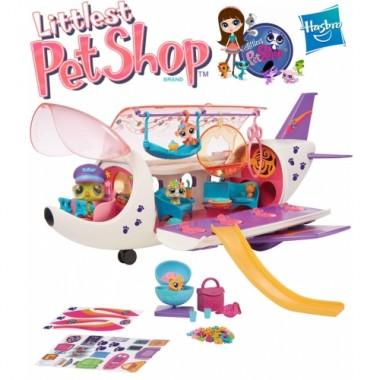 Игровой набор Самолет зверюшек Littlest Pet Shop Hasbro B1242