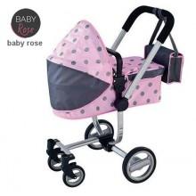Коляска для куклы JOHNTOY Baby Rose