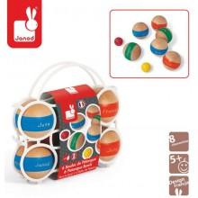 Набор для игры в Бочче Janod 6 шаров деревянных