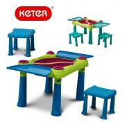 Игровой стол для песка и воды KETER Sand and Water Play Table со стульчиками