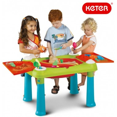 Столик-песочница KETER Sand and Water Play Table Red