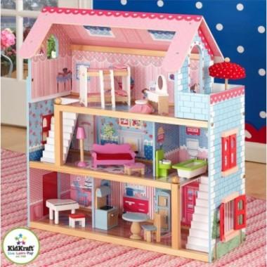 Кукольный деревянный домик KidKraft Chelsea Открытый коттедж 65054