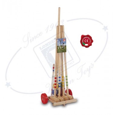 Игровой набор для игры в крокет детский Londero для 4 человек с тележкой