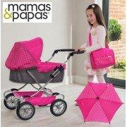 Коляска для куклы Mamas&Papas Graziella Pink Gray