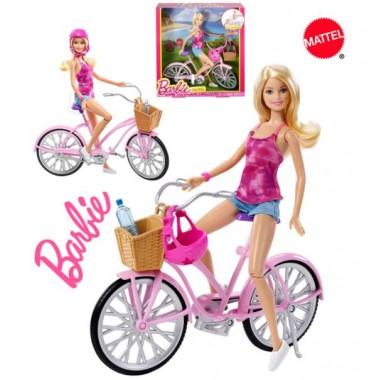 Гламурный велосипед Barbie с аксессуарами Mattel DJR54