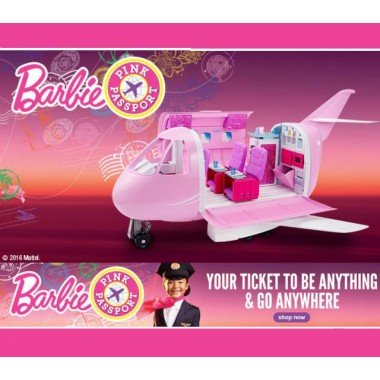 Самолет Барби Barbie Pink Passport Glamour Vacation Jet DMR53