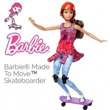 Кукла Barbie Made To Move Doll - Skateboader DVF70