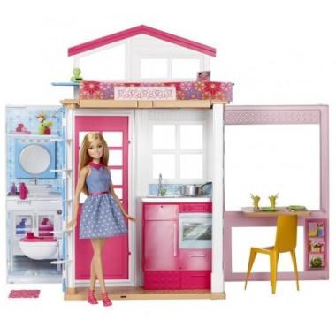 Портативный кукольный домик Barbie с куклой Mattel DVV48