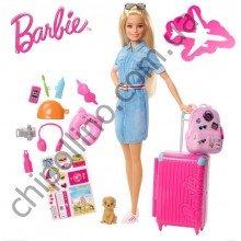 Игровой набор с куклой Барби Путешествия Barbie FWV25