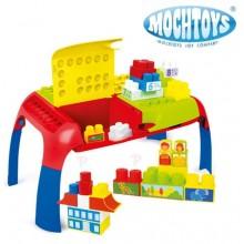 Детский игровой столик с конструктором Mochtoys Maxi