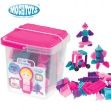 Конструктор Mochtoys Bloko Pin Bricks Pink 102 элемента