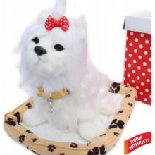 Интерактивная собачка Йоркширский терьер Снежок Norimpex York white