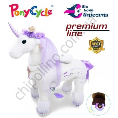 Поницикл PonyCycle Unicorn Purple Единорог (средний) с подсветкой колес