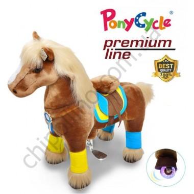 Поницикл PonyCycle Brown (малый) с подсветкой колес