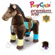 Поницикл PonyCycle Chocolate Brown (средний) с подсветкой колес