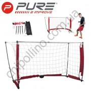 Складные футбольные ворота Pure2Improve Soccer Goal 152x91 см