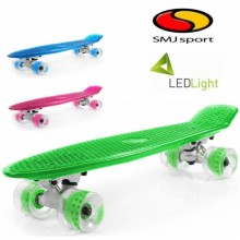 """Скейтборд с подсветкой SMJ Sport Fishka LED 22"""""""