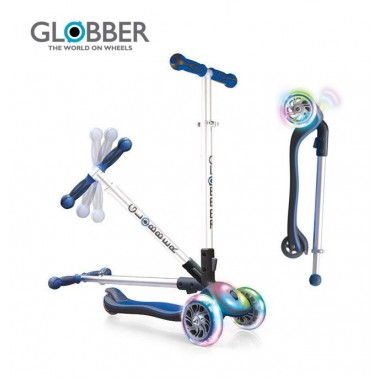 Самокат Globber Elite Lights 449-100 Blue