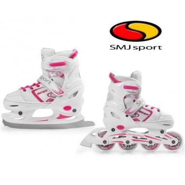 Детские ролики и коньки SMJ Sport White 2 в 1