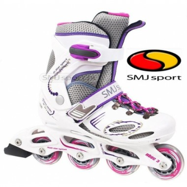 Ролики детские раздвижные SMJ sport Girl White